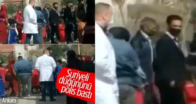 Başkent'te Suriyeli çiftin düğününe polis baskını