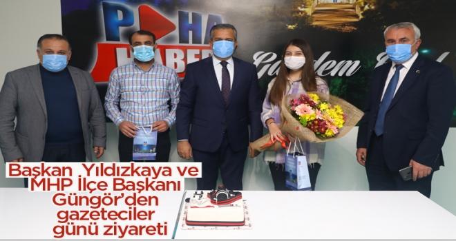 Başkan Yıldızkaya'dan 10 Ocak Çalışan Gazeteciler Günü ziyareti