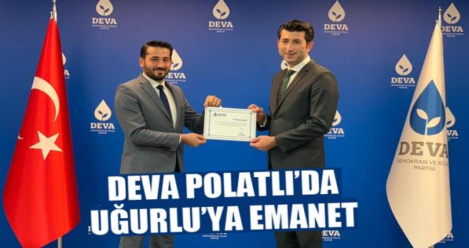 DEVA Partisi Polatlı İlçe Başkanı Av. Sadık Serhat Uğurlu oldu!