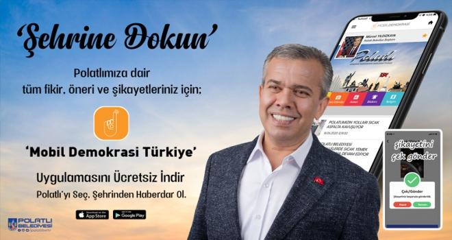 Polatlı Belediyesi  Mobil Demokrasi Türkiye uygulamasında yerini aldı!