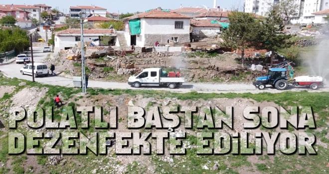 Polatlı Belediyesi Virüsle Mücadeleye Tam Kadro Devam Ediyor!