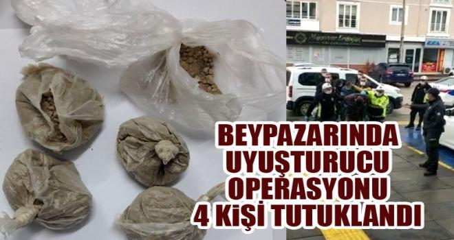 Beypazarı'nda uyuşturucu tacirleri yakalandı