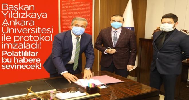 Başkan Yıldızkaya, Ankara Üniversite ile protokole imza attı!