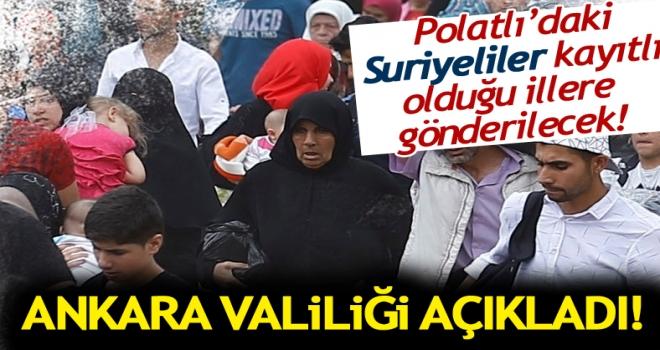 İçişleri Bakanlığı, 2 Eylül'den itibaren Ankara geçici koruma kaydına kapatıldı.