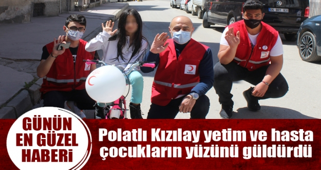 Kızılay Polatlı'dan 21 minik çocuğa Bisiklet Hediyesi