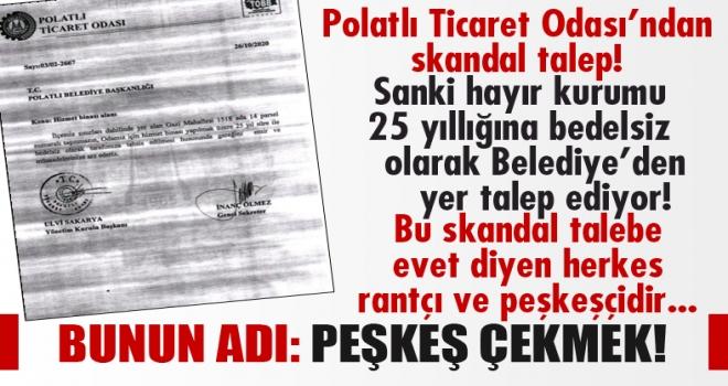 Polatlı Ticaret Odası'nın Belediye'den bedelsiz yer talebi mecliste görüşülecek!