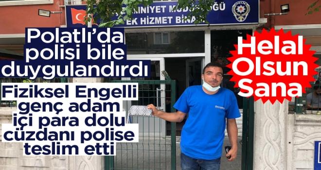 Günün en güzel haberi: Polatlı'da içi para dolu cüzdanı emniyete teslim etti!