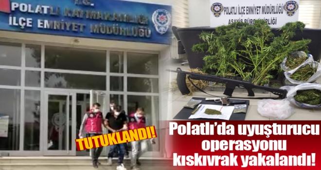 Polatlı'da hurdacılık adı altında esrar yetiştirip, satan torbacı yakalandı!