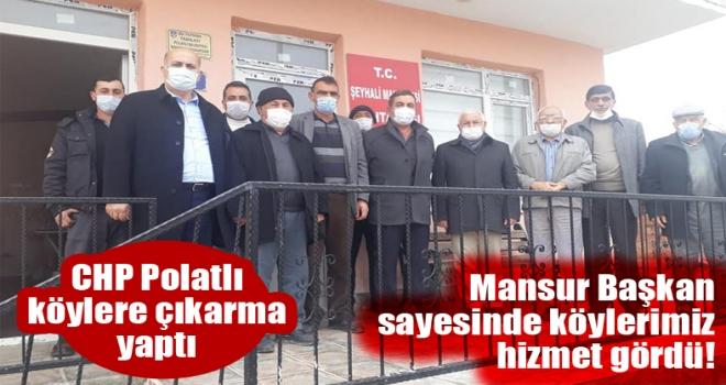 CHP Polatlı'dan köylere çıkarma