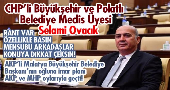Selami Ovacık: Rant gündeme geldiğinde Ankara İl Tarım Müdürlüğü olumlu yanıt verdi!